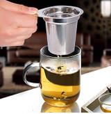 Stainless Steel Loose Tea Infuser, Large Capacity Fine Mesh Tea