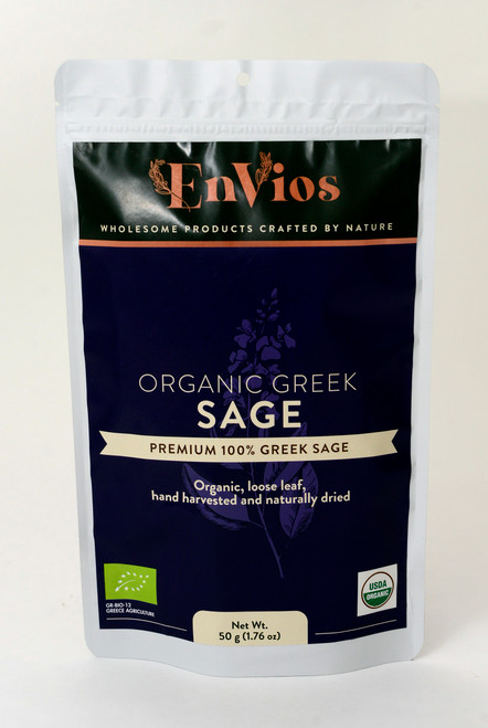 Organic Greek Sage. By EnVios  50g / 1.76 oz