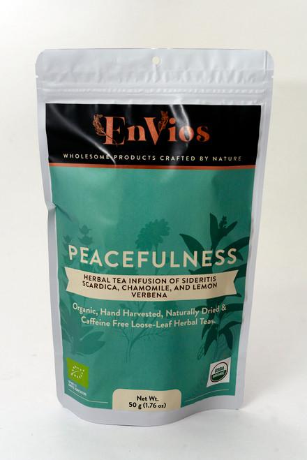 Peacefulness. Organic Herbal Tea infusion of Sideritis Scardica, Chamomile and Lemon Verbena by EnVios 50 g / 1.76 oz.