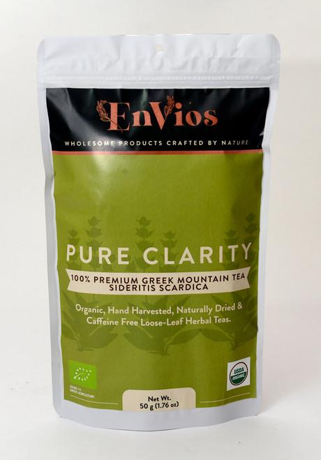Organic Greek Mountain Tea / Sideritis Scardica. Pure Clarity by EnVios 50 g / 1.76 oz