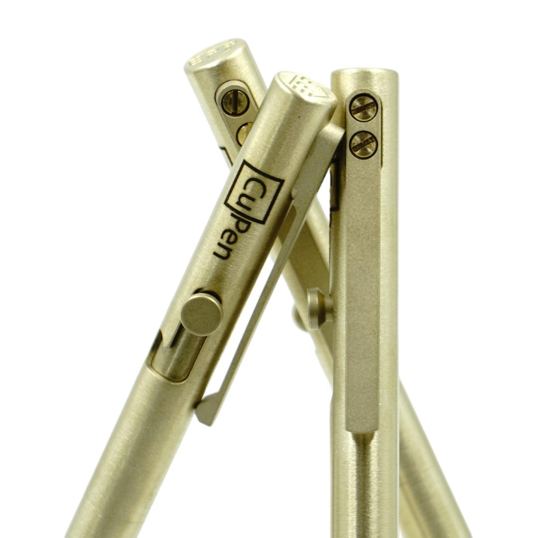 bolt action pen with CNC pen clip