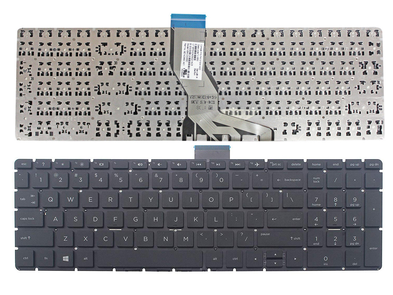 for HP 15-BS178CL 15-BS188CL 15-BS028CL 15-bs000 15-bs100 15-bs500 15-bs600 15-BS010NR 15-BS012CA 15-BS016DX 15-BS062ST Looleking US Black English Laptop Keyboard Without Frame
