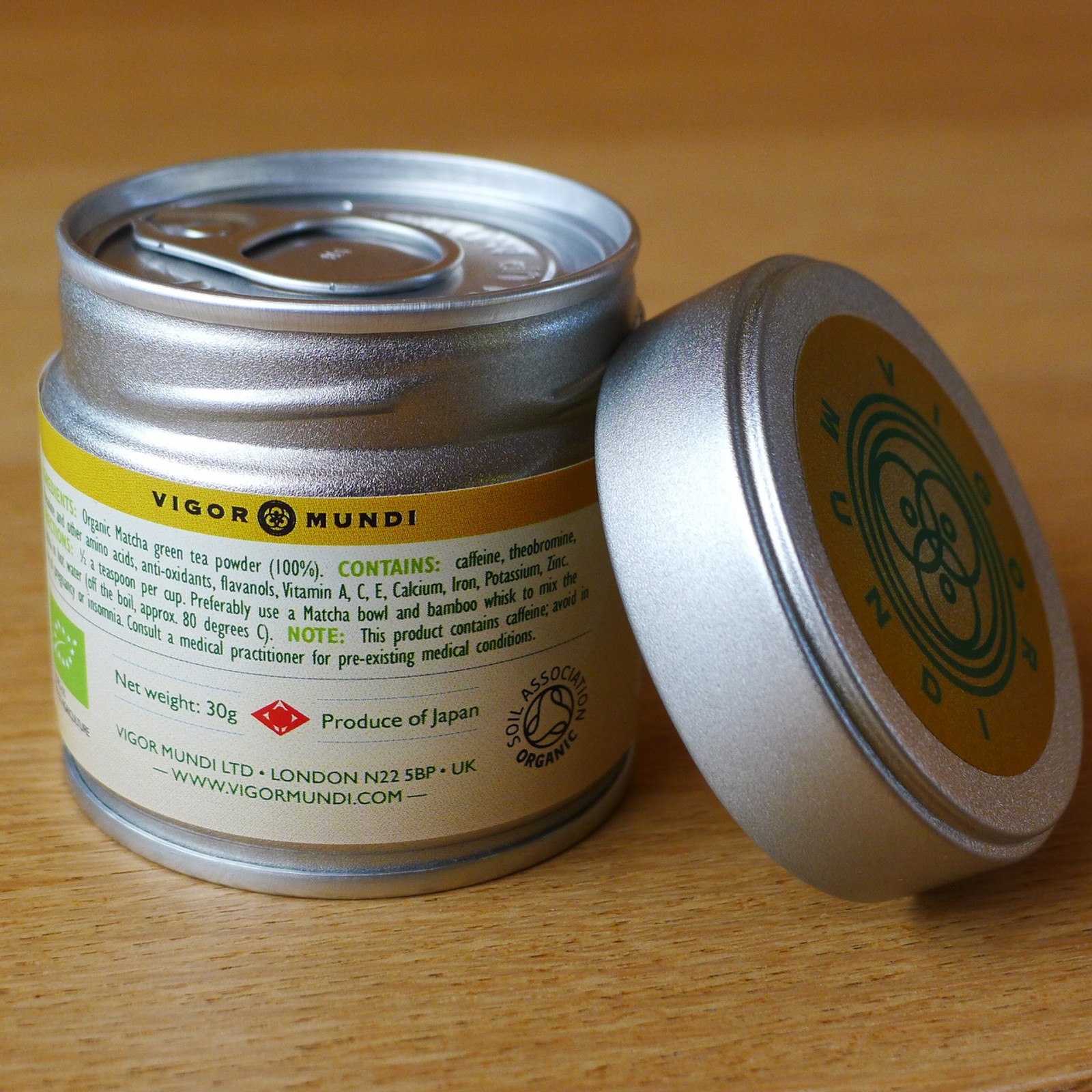 Tins are packaged and sealed at the source in Japan, to ensure freshness and quality