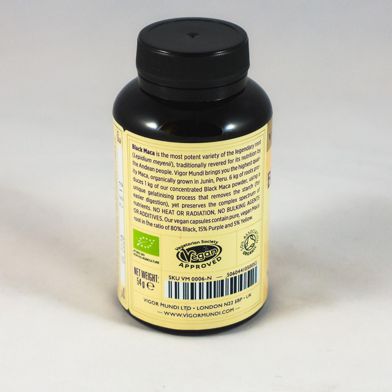 Raw Organic Black Maca Capsules