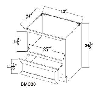 Microwave Base Cabinet 2 Doors