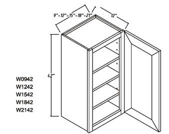 """Standard Wall Cabinet 1 Door 42"""""""