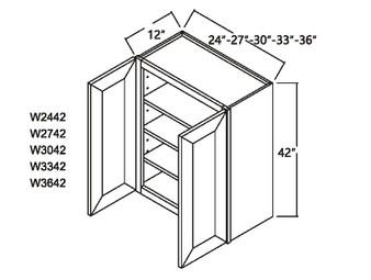 """Standard Wall Cabinet 2 Door 42"""""""