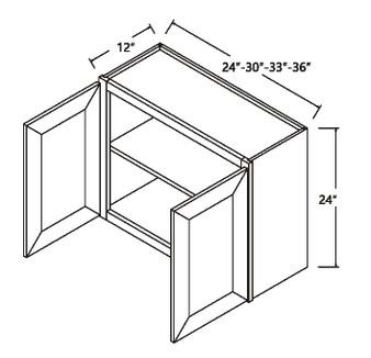 """Standard Wall Cabinet 2 Door 24"""""""