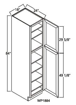 """Pantry Tall Cabinet 2 Door 84"""" - 96"""""""