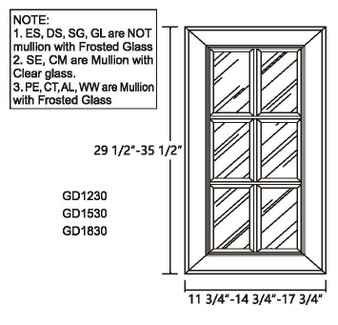 Glass Door 29.5""