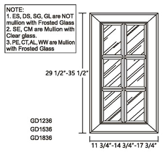 Glass Door 35.5""