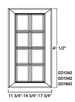 Glass Door 41.5""