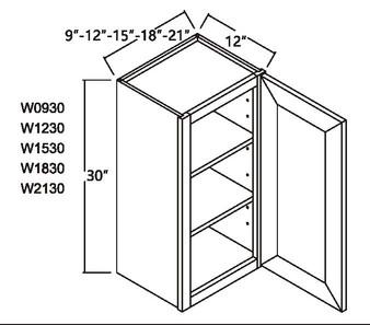 """Standard Wall Cabinet 1 Door 30"""""""