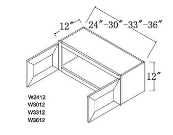 """Standard Wall Cabinet 2 Door 12"""""""