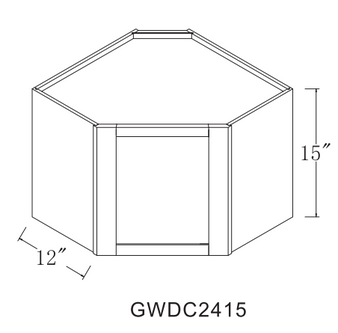 Finished Interior Wall Glass Door GWDC2515