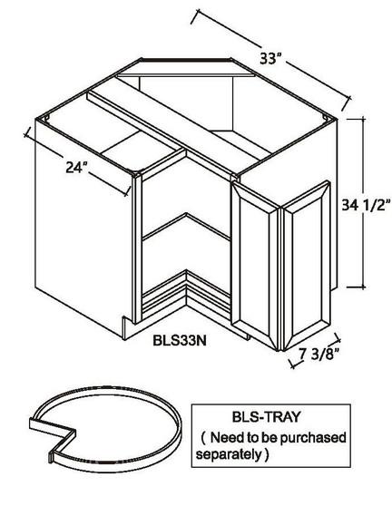 Corner Base Cabinet 1 Door