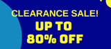 Clearance Sale – Up to 80% Off!