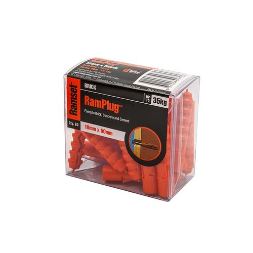 Ramplug Box 50 10mm X 50mm