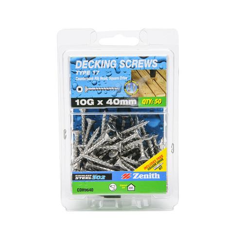 Screw Deck T17 SS302 Sq Box 50