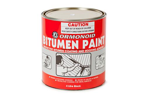 Buy Ormonoid Bitumen Paint Black - 1L, 4L and 20L Canterbury Timbers
