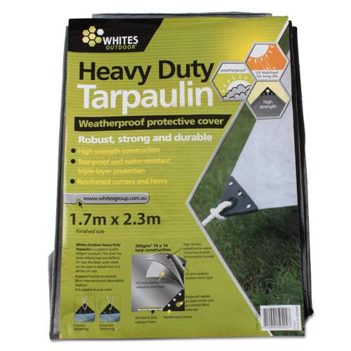 Heavy Duty Tarp Silver and Black - Various Sizes