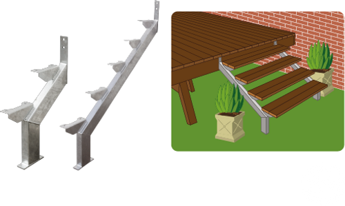 Canterbury Timber HARDAZ steel stair stringers make building stairs easier than ever.