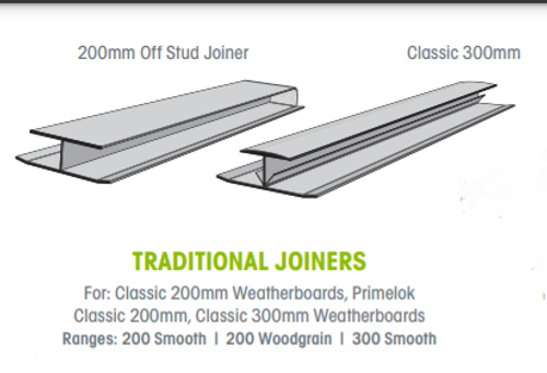 Buy Weathertex 200mm Off Stud Joiner Woodgrain - Pack of 25 Online at Canterbury Timber