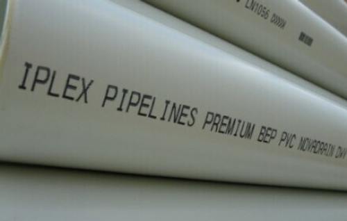 Buy Iplex™ PVC-U Drain Waste & Vent (DWV) Pipe 100mm  Online at Canterbury Timber