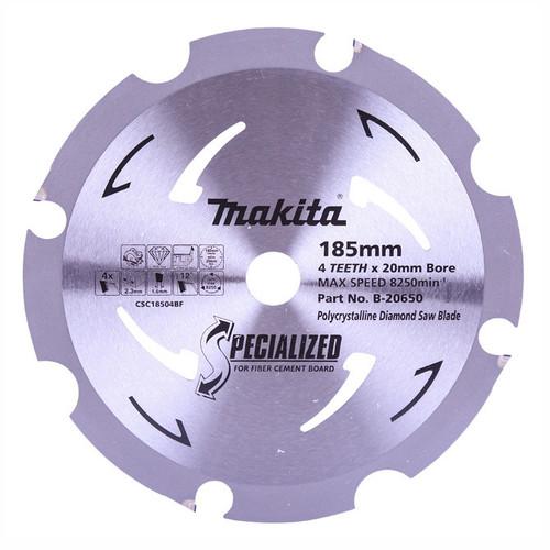 Makita 185mm x 20mm x 4t PCD Fibre Cement Saw Blade