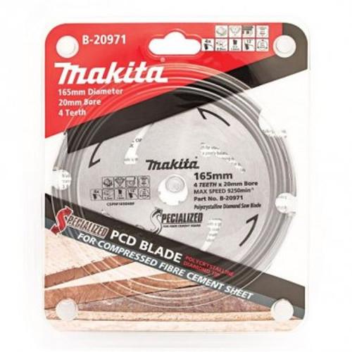Makita 165mm x 20mm x 4t PCD Fibre Cement Saw Blade