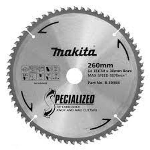 Makita Multi Purpose TCT Saw Blade 255mm x 30 x 80T - Circular Saw