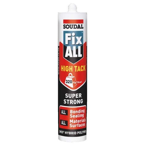 Buy Soudal Fix All High Tack Sealant Invisible 290ml at Canterbury Timbers