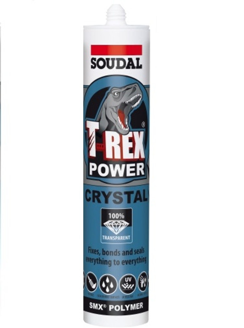 Buy Soudal T-Rex Power Crystal Adhesive & Sealant Clear Cartridge at Canterbury Timber & Building Supplies