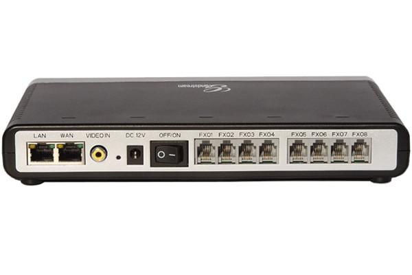 Grandstream GXW4108 VoIP SIP gateway, 8 x FXO, 2 x Fast Ethernet, T