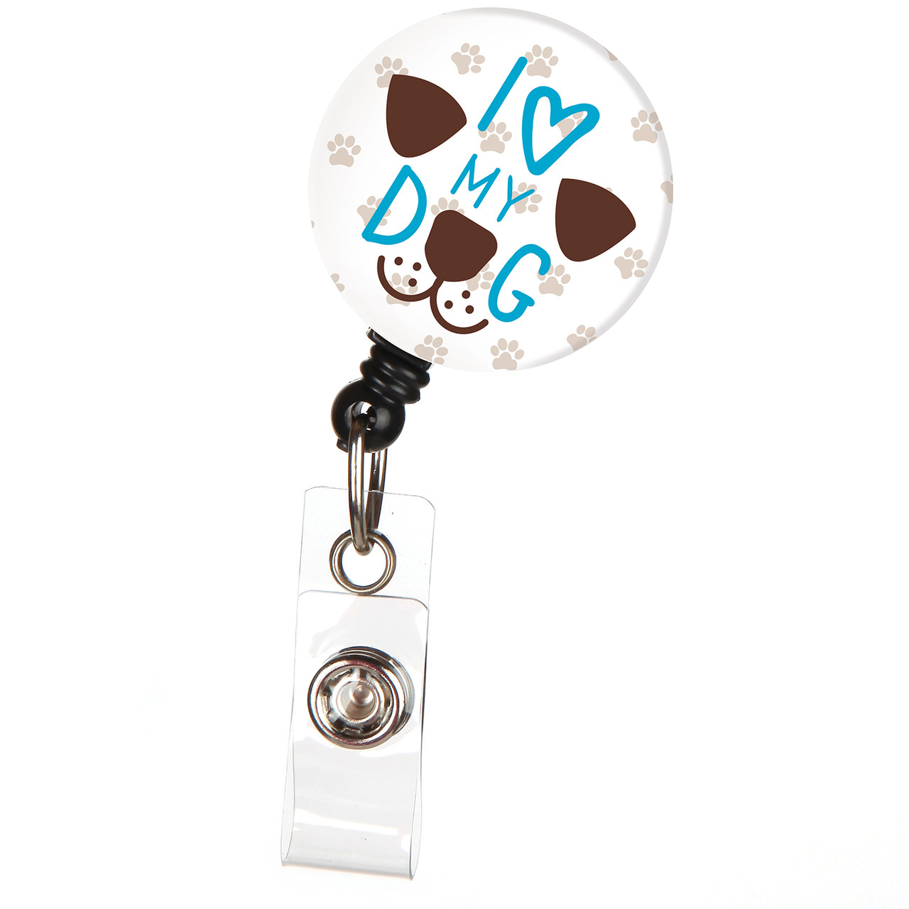 Paws Paws and Rainbow Paws Dog or Cat Lover ID Badge Holder Lanyard !!