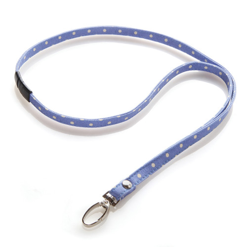 Mini Dot Fabric Lanyard