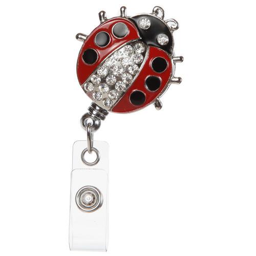 Lady Lovebug ID Badge Holder with Retractable Reel