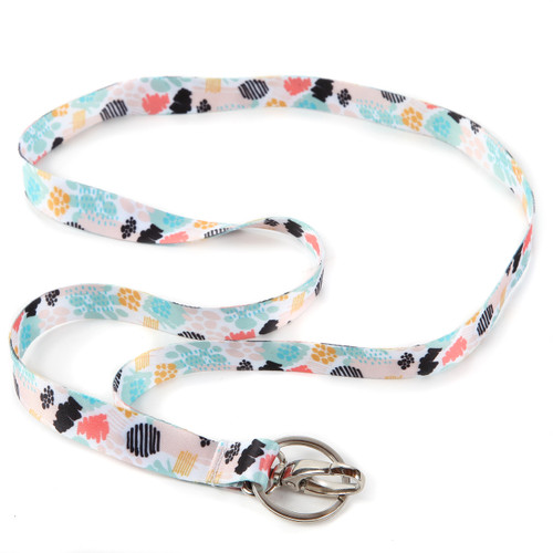Spring Meadow Ribbon Lanyard with Key Ring