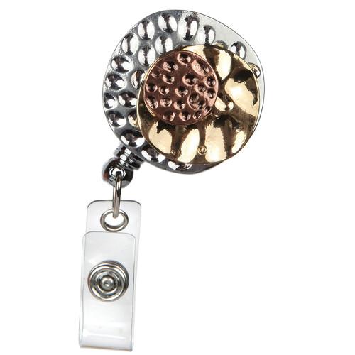 Combo Tri-Colored Metal Badge Reel