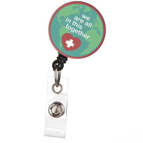 We're all in this together ID badge reel