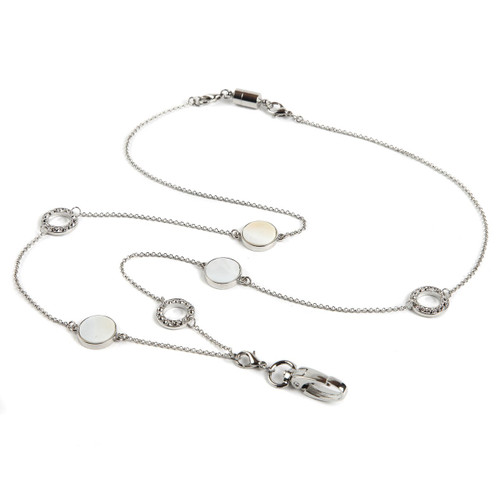 Sweet Pearl Reversible Chain ID Necklace Lanyard