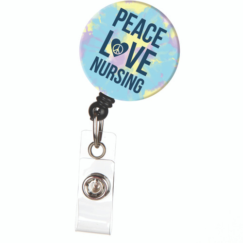 Peace Love Nursing Badge Reel