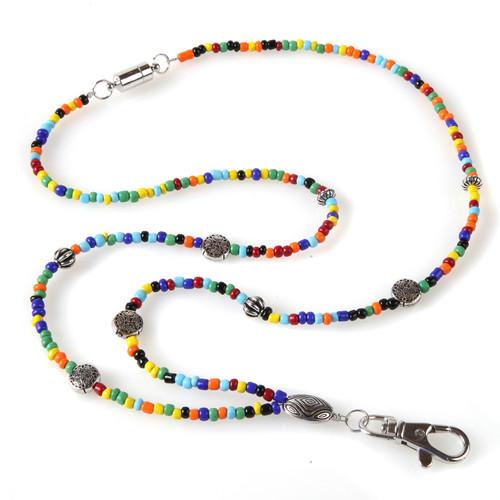 Janis Beaded ID Necklace Lanyard
