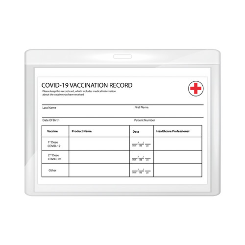 Vaccine Card Holder Clear Plastic