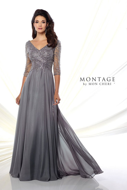 Soft V-neck Gown