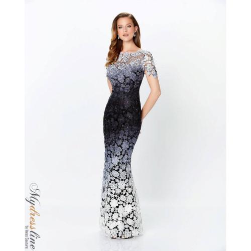 Ombre Lace Trumpet Dress