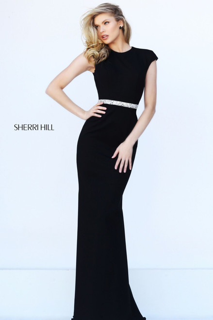 Black Belted Gown