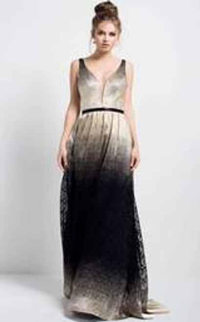 Ombre Sleeveless A-line Gown