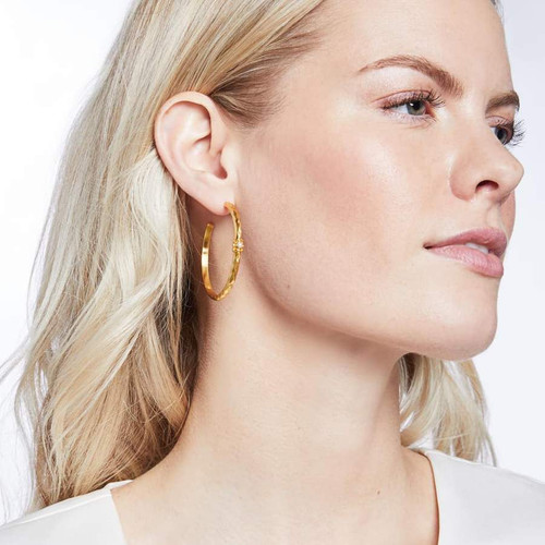 Savannah Pearl Hoop- Medium