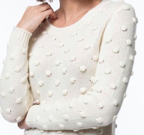 Popcorn Pom Sweater